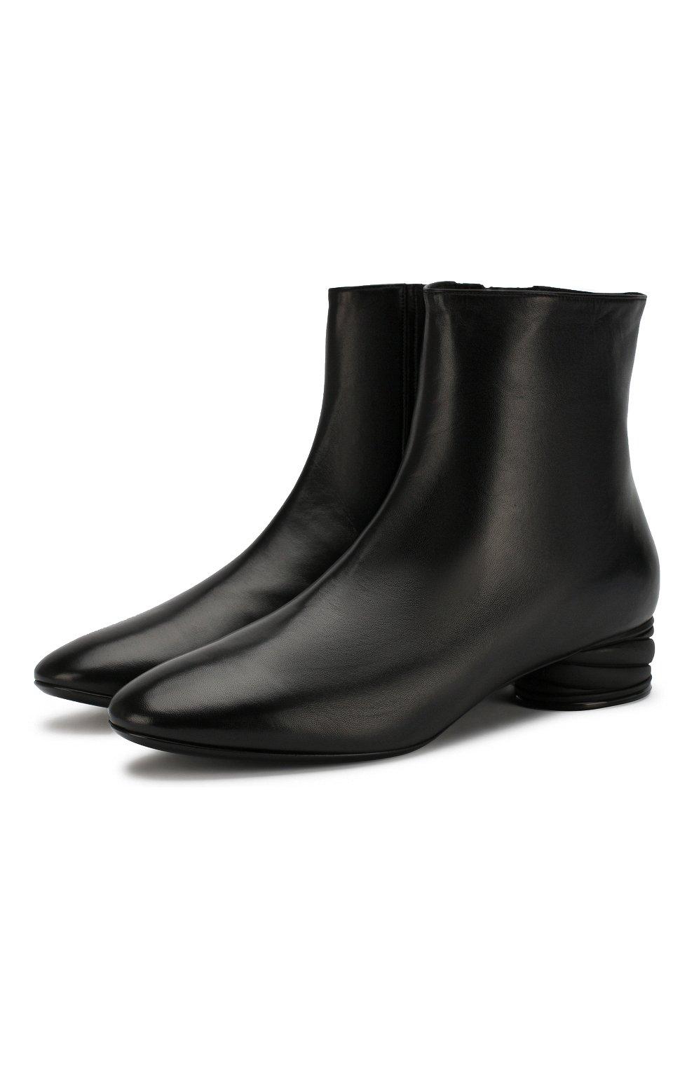 Женские кожаные ботильоны CASADEI черного цвета, арт. 1Q931N0301C02389000 | Фото 1