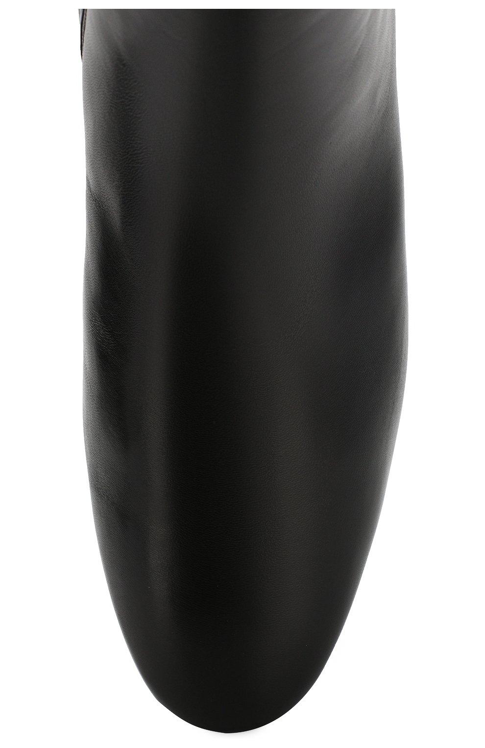 Женские кожаные ботильоны CASADEI черного цвета, арт. 1Q931N0301C02389000 | Фото 5