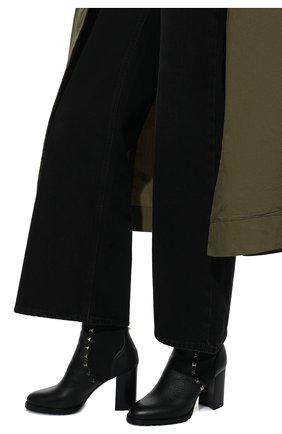 Женские кожаные ботильоны valentino garavani rockstud VALENTINO черного цвета, арт. SW2S0I94/VSL | Фото 3