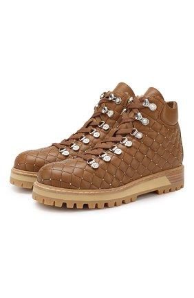 Женские кожаные ботинки LE SILLA коричневого цвета, арт. 7508M040M1MMCHI | Фото 1