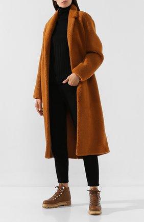 Женские кожаные ботинки LE SILLA коричневого цвета, арт. 7508M040M1MMCHI | Фото 2