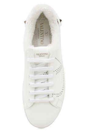 Женские кожаные кеды valentino garavani backnet VALENTINO белого цвета, арт. SW0S0M20/HYN | Фото 5