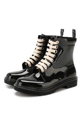 Женские резиновые ботинки SERGIO ROSSI черного цвета, арт. A86760-MFN749 | Фото 1