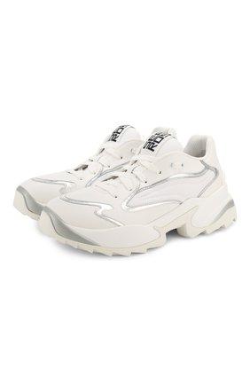 Женские комбинированные кроссовки SERGIO ROSSI белого цвета, арт. A86730-MFN740 | Фото 1