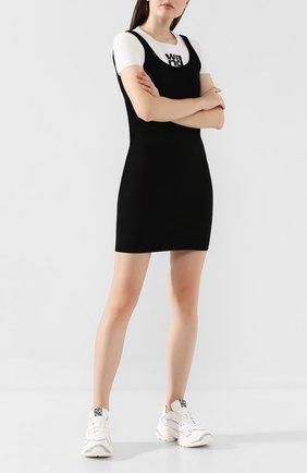 Женские комбинированные кроссовки SERGIO ROSSI белого цвета, арт. A86730-MFN740 | Фото 2