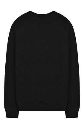 Детский хлопковый свитшот BALMAIN черного цвета, арт. 6L4590/LX230/4-10 | Фото 2