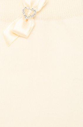 Детские хлопковые гольфы LA PERLA бежевого цвета, арт. 47166H/9-12 | Фото 2