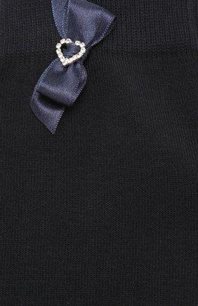Детские хлопковые гольфы LA PERLA синего цвета, арт. 47166H/9-12 | Фото 2