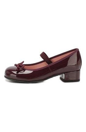 Детские кожаные туфли с перемычкой PRETTY BALLERINAS бордового цвета, арт. 48.401/SHADE | Фото 2
