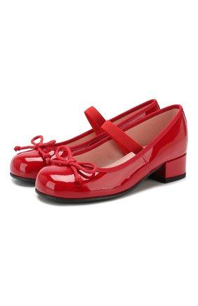 Кожаные туфли с перемычкой | Фото №1