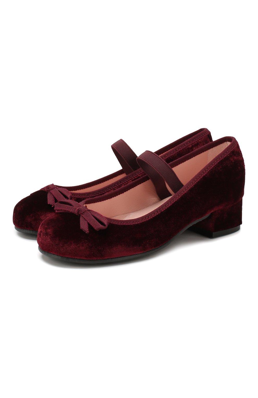 Детские туфли с перемычкой PRETTY BALLERINAS бордового цвета, арт. 44.097/AFR0DITE-D0 | Фото 1