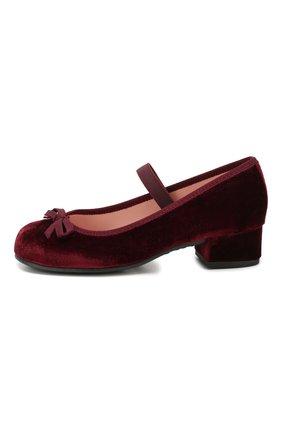 Детские туфли с перемычкой PRETTY BALLERINAS бордового цвета, арт. 44.097/AFR0DITE-D0 | Фото 2