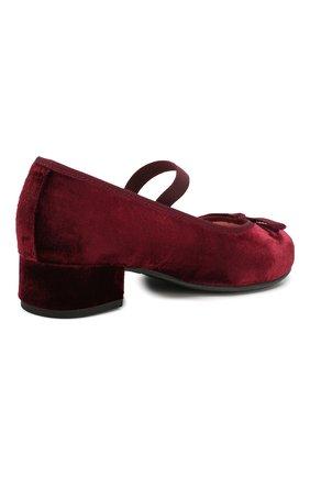 Детские туфли с перемычкой PRETTY BALLERINAS бордового цвета, арт. 44.097/AFR0DITE-D0 | Фото 3