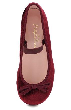 Детские туфли с перемычкой PRETTY BALLERINAS бордового цвета, арт. 44.097/AFR0DITE-D0 | Фото 4