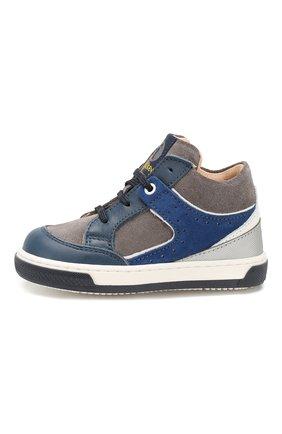 Детские кожаные кеды WALKEY синего цвета, арт. Y1B4-40420-0076/19-24 | Фото 2