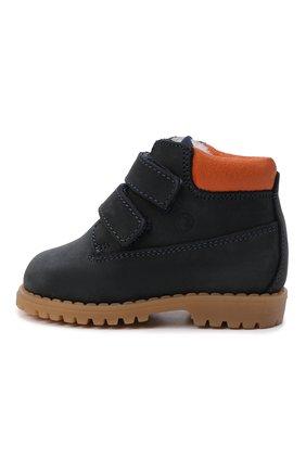Детские кожаные ботинки с меховой отделкой WALKEY темно-синего цвета, арт. Y1B4-40015-0415/19-24 | Фото 2