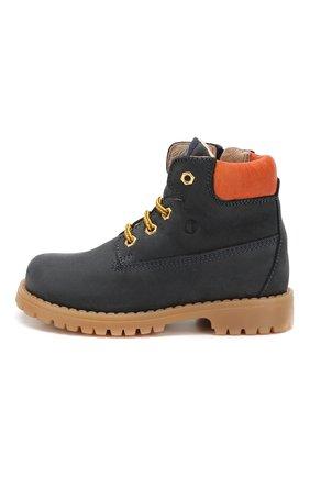 Детские кожаные ботинки WALKEY темно-синего цвета, арт. Y1B4-40012-0073/19-24 | Фото 2