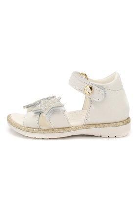 Детские кожаные босоножки WALKEY белого цвета, арт. Y1A2-40372-0062 | Фото 2