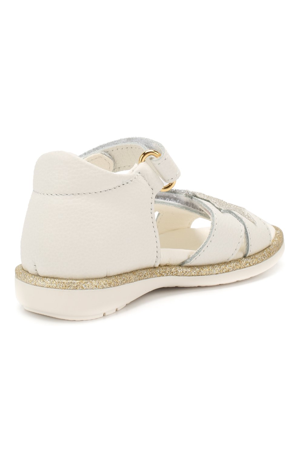 Детские кожаные босоножки WALKEY белого цвета, арт. Y1A2-40372-0062 | Фото 3