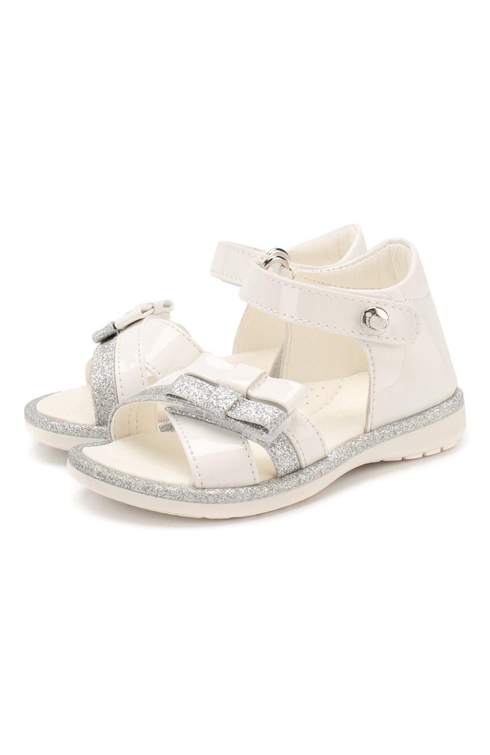Детские кожаные босоножки WALKEY белого цвета, арт. Y1A2-40364-0245 | Фото 1