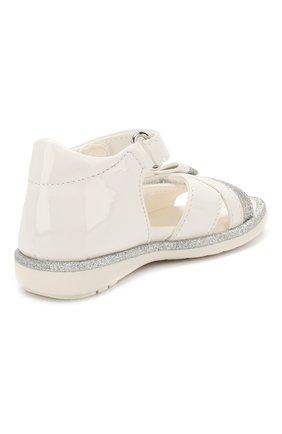 Детские кожаные босоножки WALKEY белого цвета, арт. Y1A2-40364-0245 | Фото 3