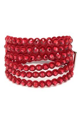 Женский браслет slake SWAROVSKI красного цвета, арт. 5511701 | Фото 1