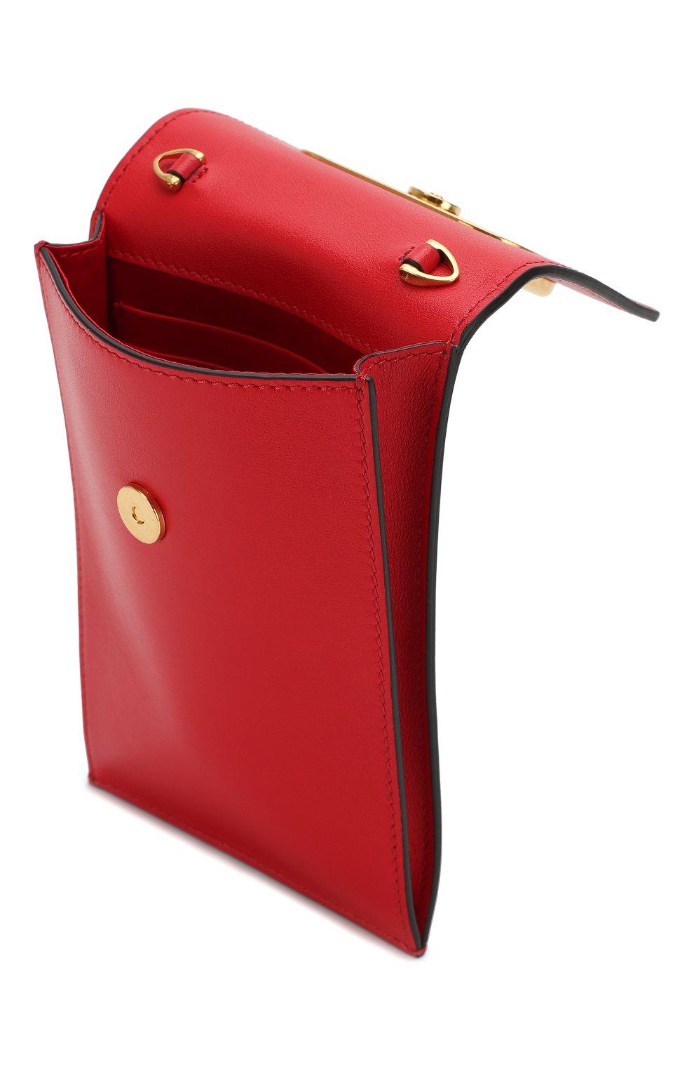 Мужского кожаный чехол для iphone valentino garavani VALENTINO красного цвета, арт. SW2P0S45/ZXL   Фото 3