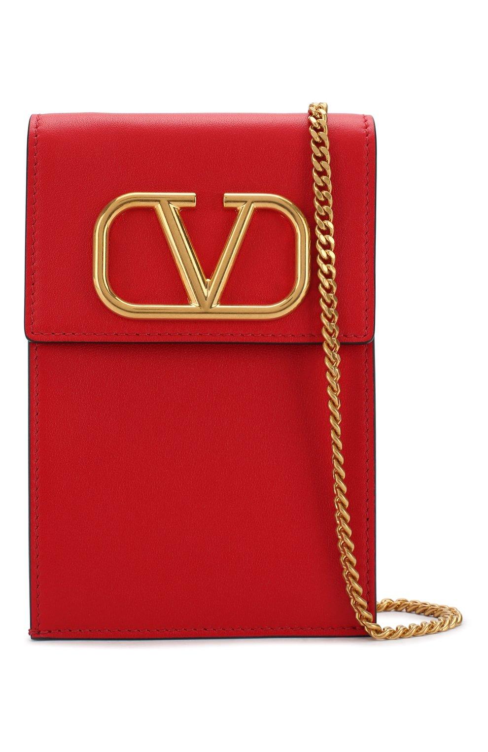 Мужского кожаный чехол для iphone valentino garavani VALENTINO красного цвета, арт. SW2P0S45/ZXL   Фото 4