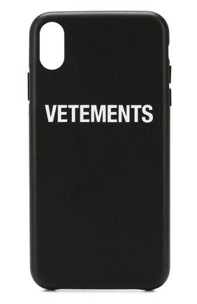 Мужской чехол для iphone xs max VETEMENTS черного цвета, арт. UAH20AC901/M | Фото 1