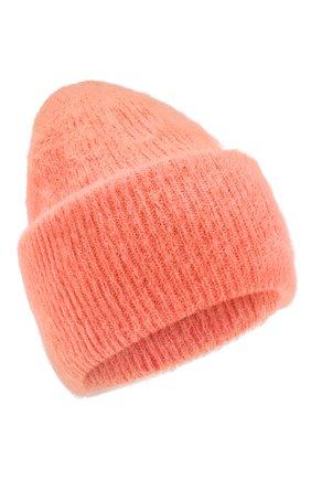 Женская шапка TAK.ORI оранжевого цвета, арт. HTK50027WM050AW19 | Фото 1 (Материал: Текстиль, Шерсть, Синтетический материал; Статус проверки: Проверено, Проверена категория)