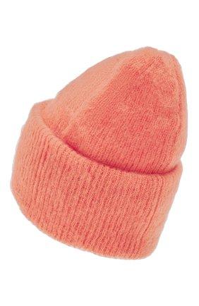 Женская шапка TAK.ORI оранжевого цвета, арт. HTK50027WM050AW19 | Фото 2 (Материал: Текстиль, Шерсть, Синтетический материал; Статус проверки: Проверено, Проверена категория)