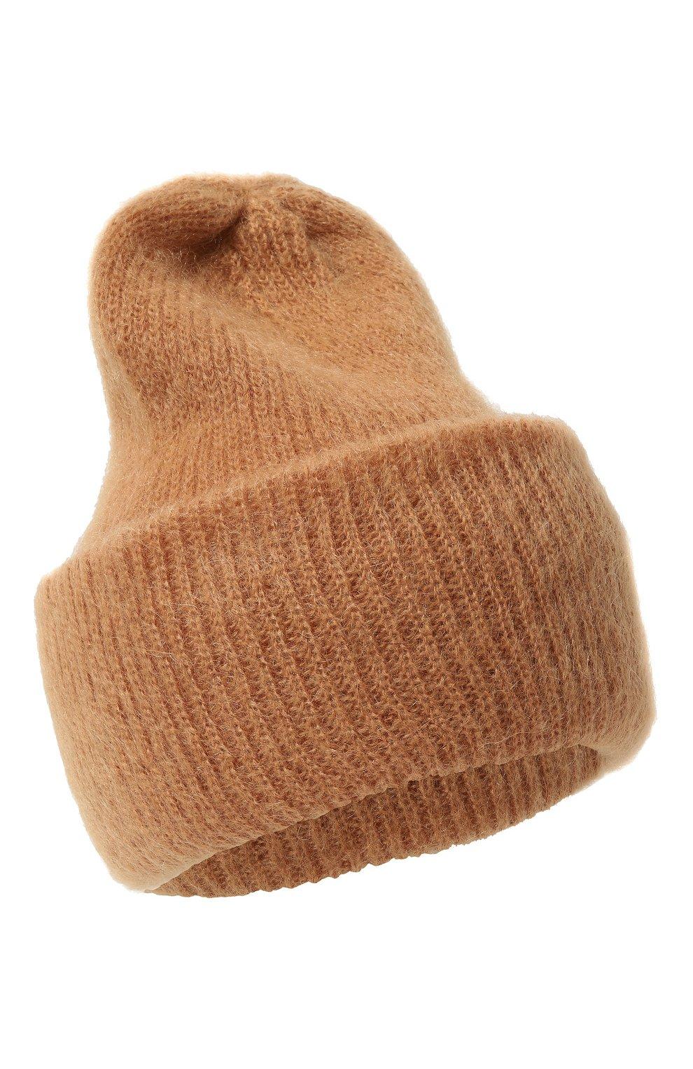 Женская шапка TAK.ORI бежевого цвета, арт. HTK50027WM050AW19 | Фото 1 (Материал: Текстиль, Шерсть, Синтетический материал; Статус проверки: Проверено, Проверена категория)
