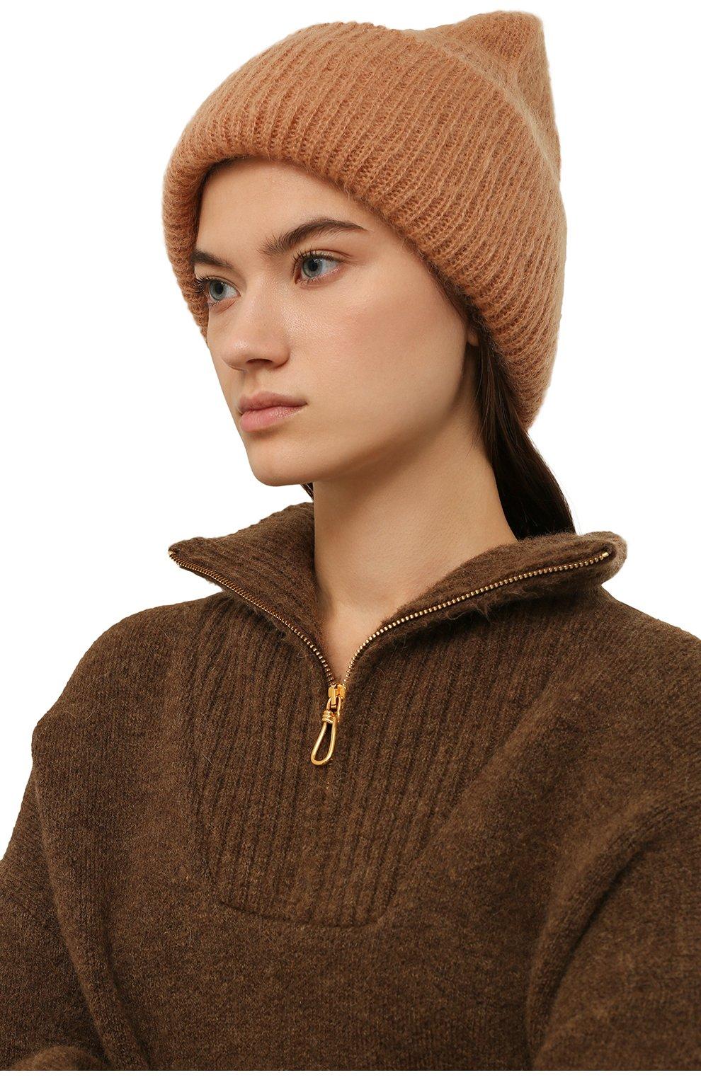 Женская шапка TAK.ORI бежевого цвета, арт. HTK50027WM050AW19 | Фото 2 (Материал: Текстиль, Шерсть, Синтетический материал; Статус проверки: Проверено, Проверена категория)