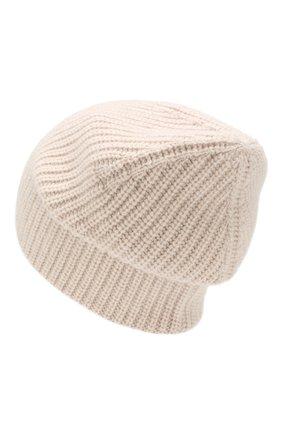 Женская шапка из смеси шерсти и кашемира TAK.ORI бежевого цвета, арт. HTK50021WC030AW19 | Фото 2