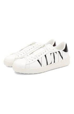 Мужские кожаные кеды valentino garavani open VALENTINO белого цвета, арт. SY0S0830/PST   Фото 1