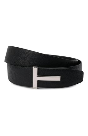 Мужской кожаный ремень TOM FORD черного цвета, арт. TB178P-LCL050 | Фото 1
