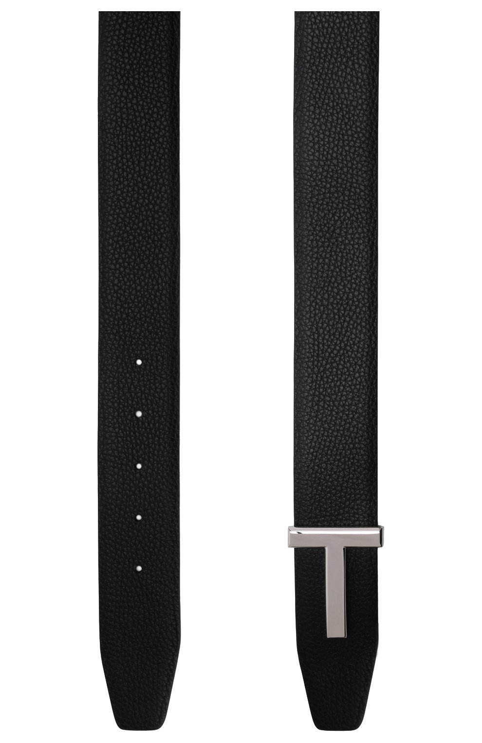 Мужской кожаный ремень TOM FORD черного цвета, арт. TB178P-LCL050 | Фото 3