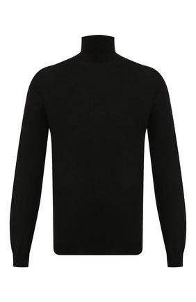Мужской шерстяная водолазка BALENCIAGA черного цвета, арт. 583118/T1439 | Фото 1