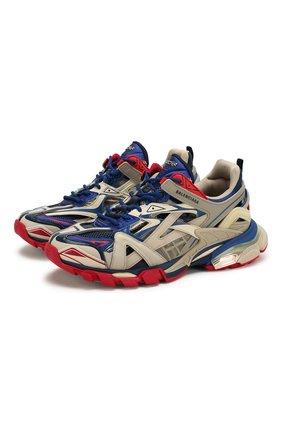 Мужские комбинированные кроссовки track.2 BALENCIAGA бежевого цвета, арт. 568614/W2GN2 | Фото 1