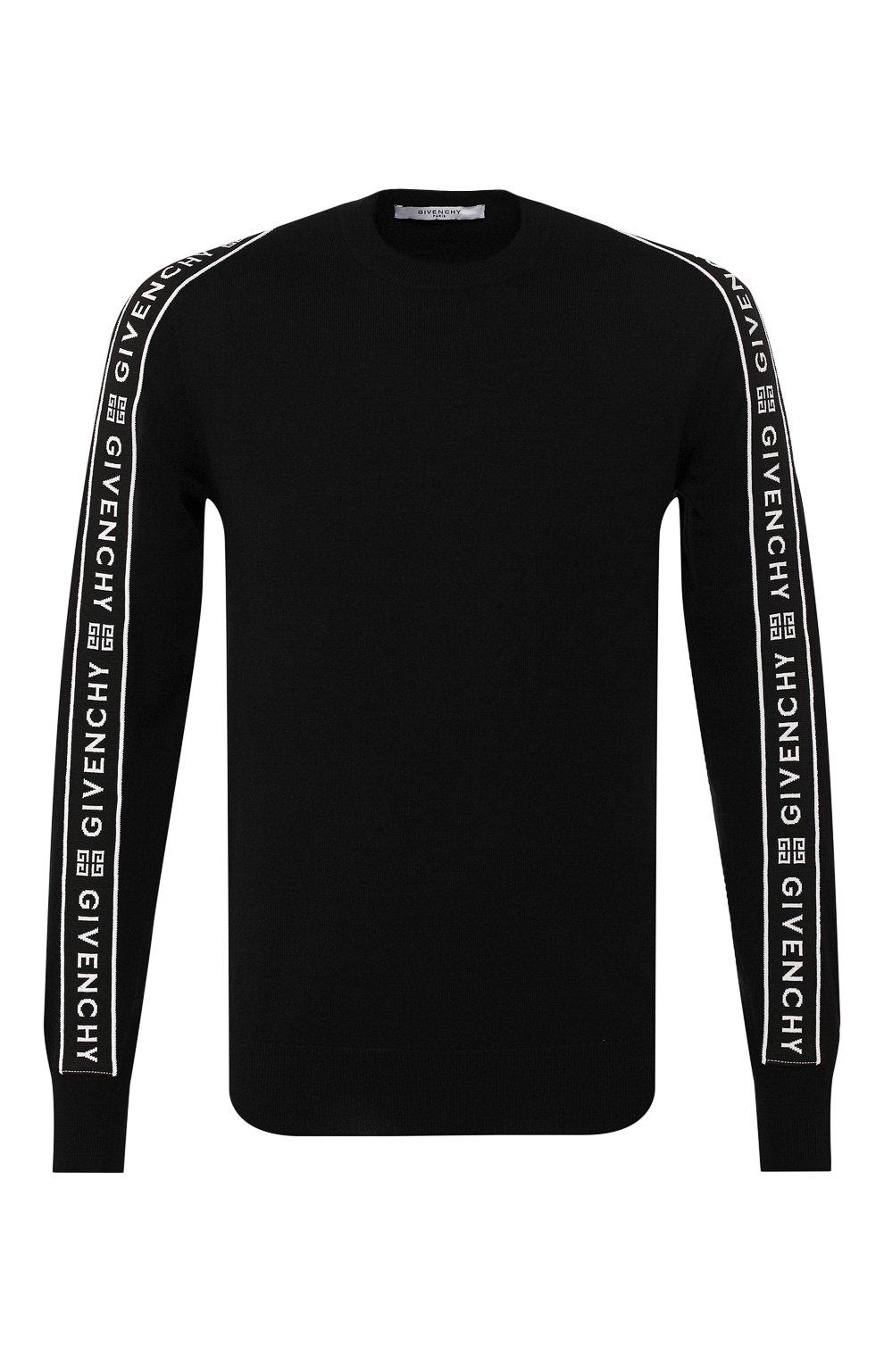 Мужской шерстяной джемпер GIVENCHY черного цвета, арт. BM909V404X | Фото 1