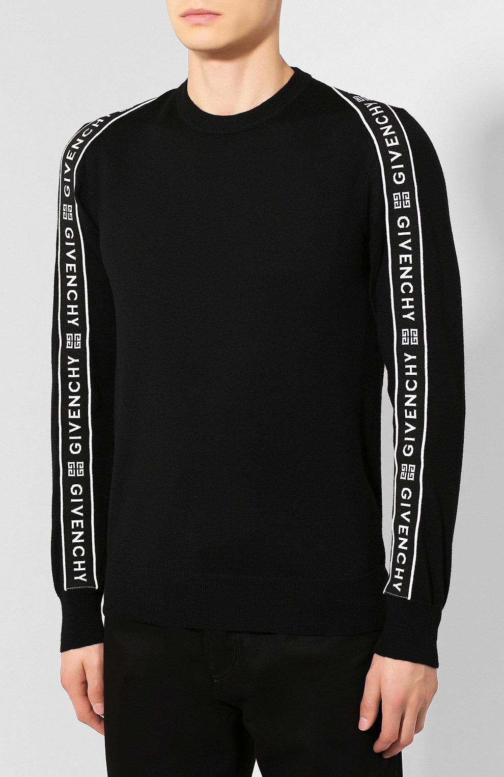 Мужской шерстяной джемпер GIVENCHY черного цвета, арт. BM909V404X | Фото 3