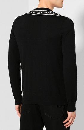 Мужской шерстяной джемпер GIVENCHY черного цвета, арт. BM909V404X | Фото 4