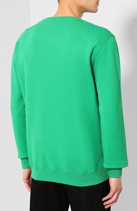 Хлопковый свитшот Givenchy зеленый | Фото №4