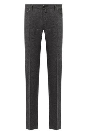 Мужской шерстяные брюки JACOB COHEN темно-серого цвета, арт. J620 W00L B 06968-N/52 | Фото 1