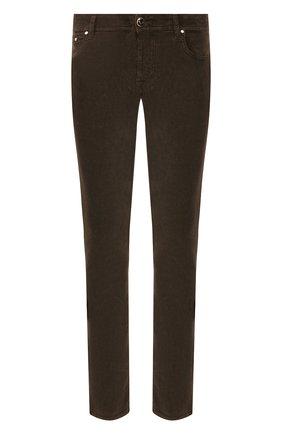 Мужские хлопковые брюки JACOB COHEN темно-коричневого цвета, арт. J688 C0MF 08805-V/52   Фото 1