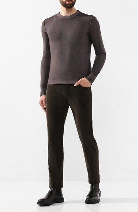 Мужские хлопковые брюки JACOB COHEN темно-коричневого цвета, арт. J688 C0MF 08805-V/52   Фото 2
