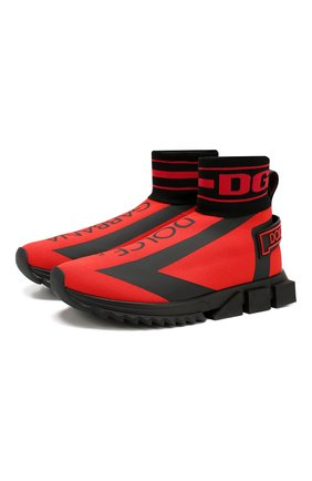 Мужские текстильные кроссовки sorrento DOLCE & GABBANA красного цвета, арт. CS1715/AA103 | Фото 1