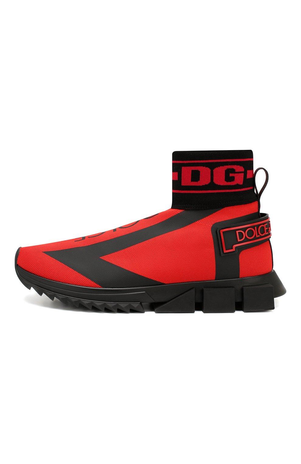 Мужские текстильные кроссовки sorrento DOLCE & GABBANA красного цвета, арт. CS1715/AA103 | Фото 3