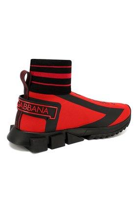 Мужские текстильные кроссовки sorrento DOLCE & GABBANA красного цвета, арт. CS1715/AA103 | Фото 4