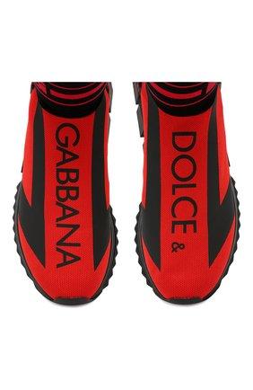 Мужские текстильные кроссовки sorrento DOLCE & GABBANA красного цвета, арт. CS1715/AA103 | Фото 5